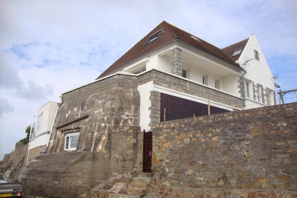 Bunker transformée en maison